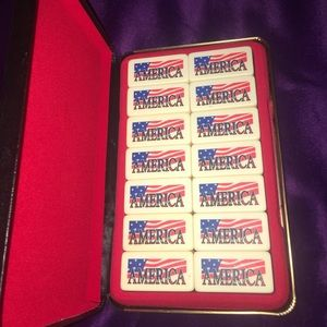 Other - Rare set of American Flag Domino Set (Never Used)